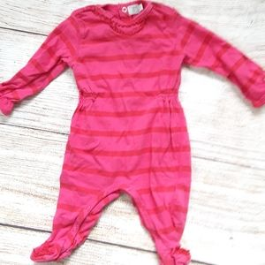 Taille cotton striped footed sleeper sz 3m